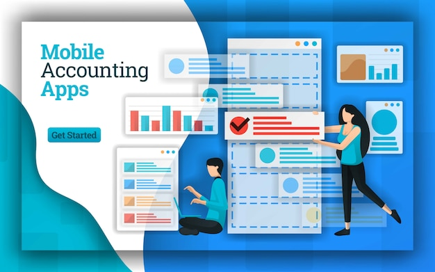 Abstract design of mobile accounting apps
