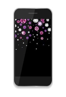 抽象デザイン携帯電話。ベクトルイラストeps10