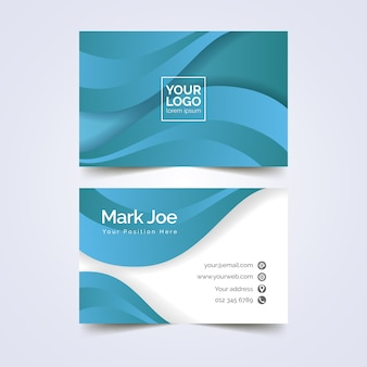Abstract design monochromatic business card template