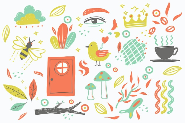Sfondo di forme organiche di disegno astratto