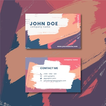 Abstract design painted business card