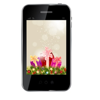 Abstract design phone for different business design  vector ill