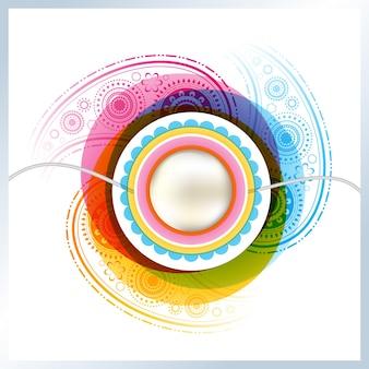 Abstract design for raksha bandhan