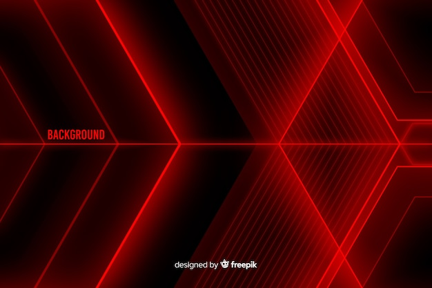 Abstract design for red light shapes background