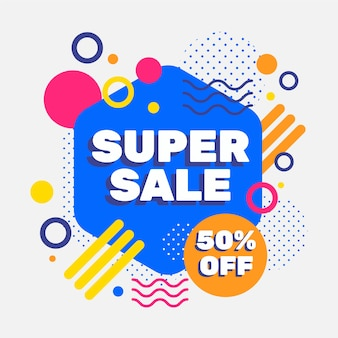 Abstract design sales promotion with 50% off