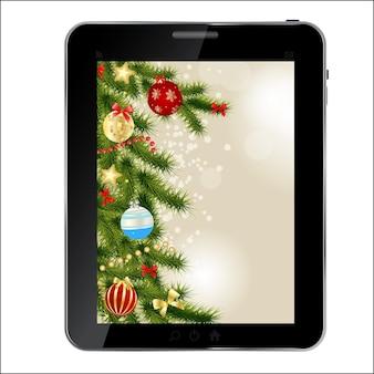 Abstract design tablet vector illustration