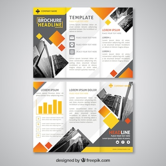 Abstract design trifold brochure template