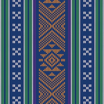 Abstract design vintage knitted pattern