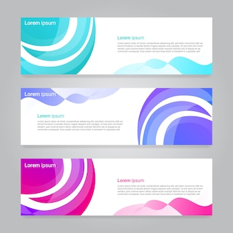 Abstract design web banner template