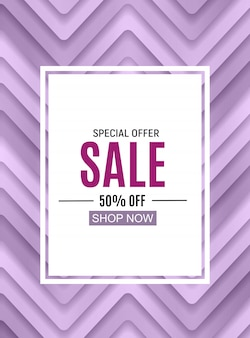 Abstract designs sale banner with frame.