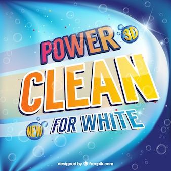 Abstract detergent background