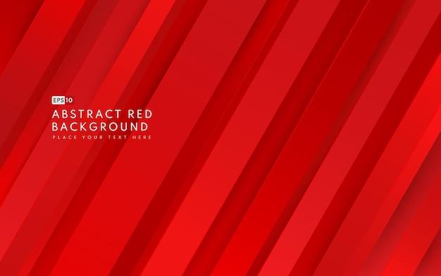Абстрактный диагональный геометрический красный градиент цвета фона и текстуры линий с копией пространства