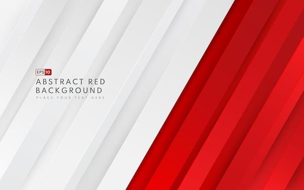 추상 대각선 기하학적 빨간색 및 흰색 그라데이션 색 배경 및 선 텍스처 복사 공간. 모던하고 미니멀 한 스타일.