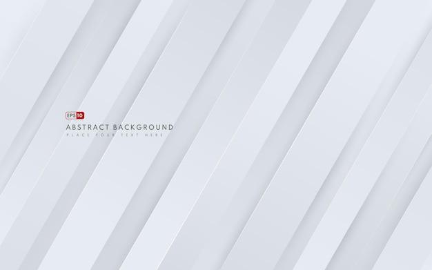 Абстрактный диагональный геометрический белый градиент цвета фона и текстуры линий с копией пространства