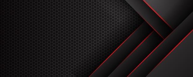 검은 바탕에 빨간색 선과 추상 대각선 겹침