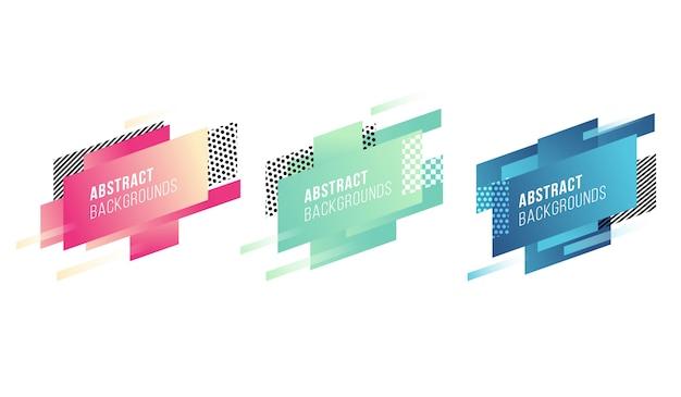 Abstract diagonal shapes set