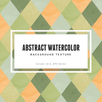 Abstract diamond watercolor background texture
