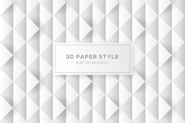 Abstract diamonds background in 3d paper style