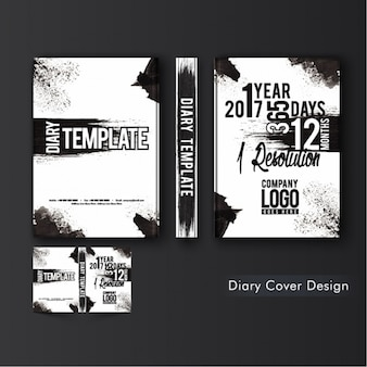 Abstract diary cover template