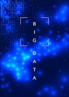 추상 디지털 배경입니다. 인공 지능, 딥 러닝 및 빅 데이터 개념. 양자 기술. 에너지 템플릿에 대한 기술 영상입니다. 물결 모양의 추상 디지털 배경입니다.