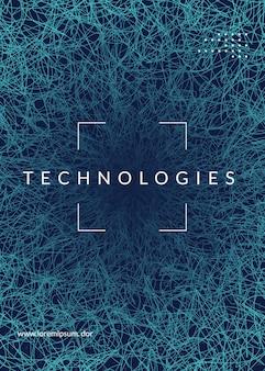 Абстрактный цифровой фон. искусственный интеллект, глубокое обучение и концепция больших данных. квантовая технология. технический визуал для информационного шаблона. современный абстрактный цифровой фон.