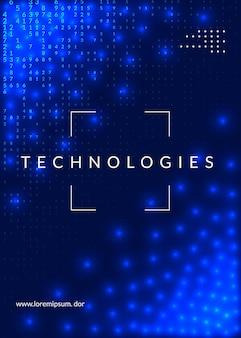 Абстрактный цифровой фон. искусственный интеллект, глубокое обучение и концепция больших данных. квантовая технология. технический визуал для шаблона интерфейса. нейронный абстрактный цифровой фон.