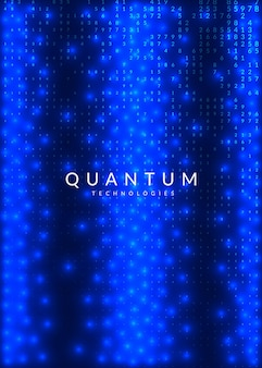 Абстрактный цифровой фон. искусственный интеллект, глубокое обучение и концепция больших данных. квантовая технология. технический визуальный шаблон для науки. фрактальный абстрактный цифровой фон.