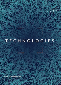 Abstract digital background. artificial intelligence, deep learning and big data concept. quantum technology. tech visual for information template. modern abstract digital background.