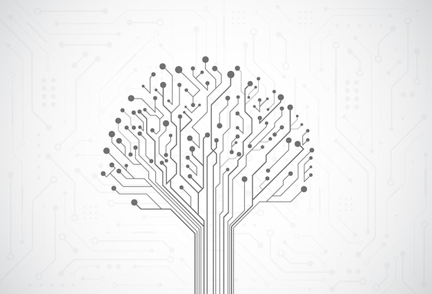 技術回路基板のテクスチャと抽象的なデジタル背景。電子マザーボードの図。コミュニケーションとエンジニアリングの概念。ベクトルイラスト