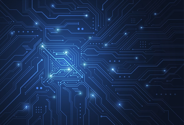Abstract digital background with technology circuit board texture