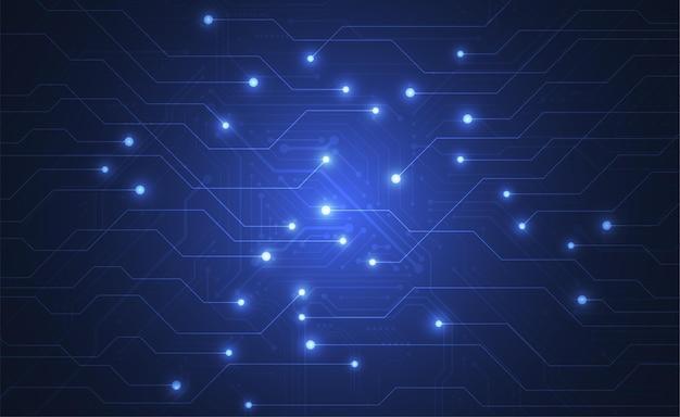 技術回路基板のテクスチャと抽象的なデジタル背景。