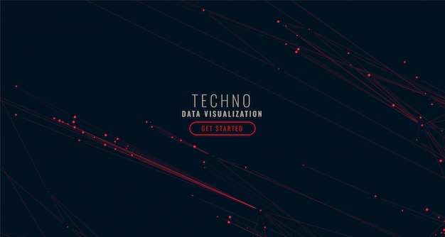Abstract digital big data visualization background