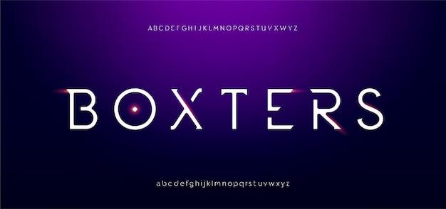 추상 디지털 미래 현대 알파벳 글꼴