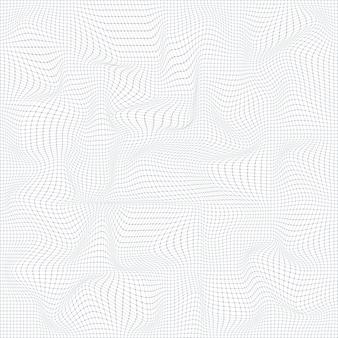 Абстрактный цифровой пейзаж с точками и линиями частиц Premium векторы