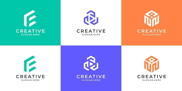 추상 디지털 현대 알파벳 로고입니다. 타이포그래피 비즈니스, 기업 아이덴티티 브랜딩 컬렉션