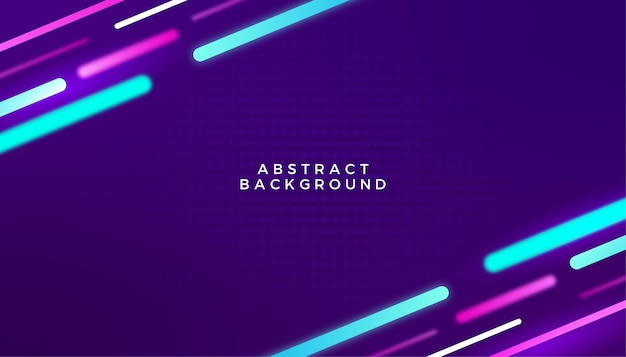 Abstract digital neon theme background design