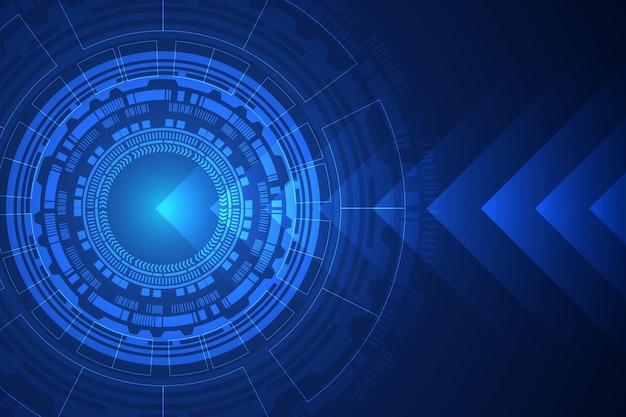 サーキュラーテクノロジーの青い背景に抽象的なデジタル。ワイヤーフレーム3dメッシュネットワークライン、デザイン球、高速および構造。ベクトルイラストeps10。