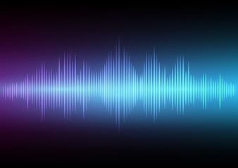 Abstract digital sound wave and music beats background.