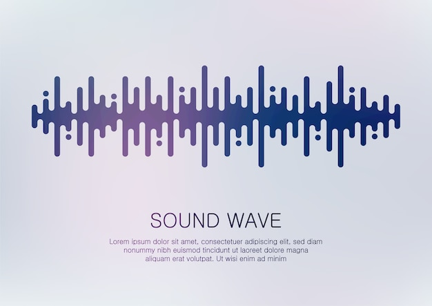 Abstract digital sound wave .