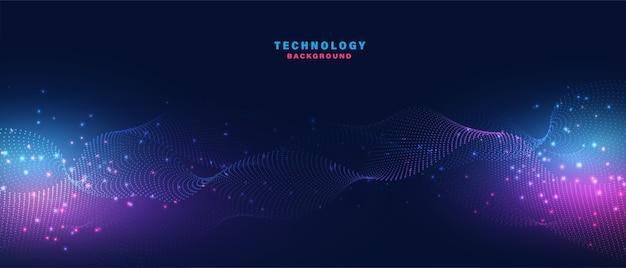 抽象的なデジタル技術の背景。