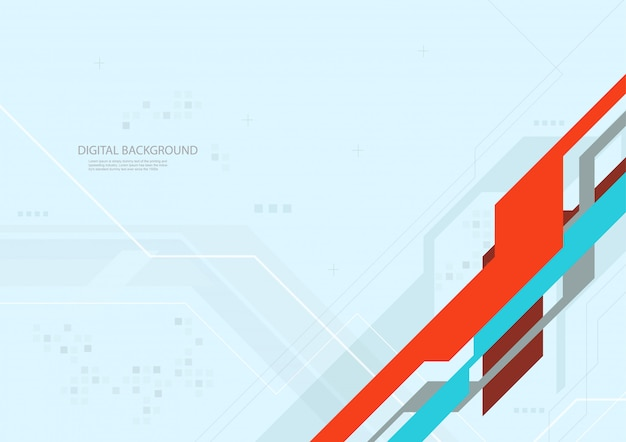Abstract digital technology flat background