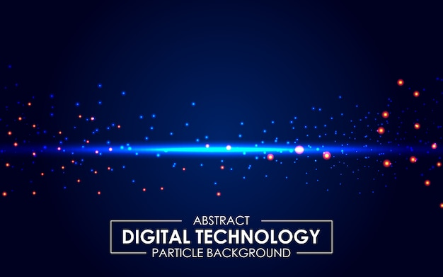 Abstract digital technology light rays background