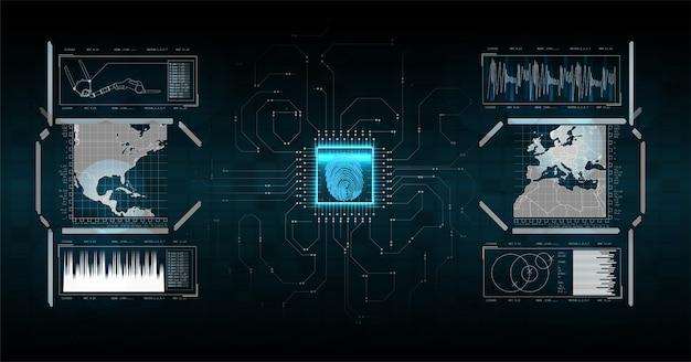 추상 디지털 기술 운영 체제