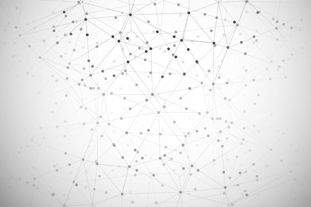 Abstract digital technology polygon background