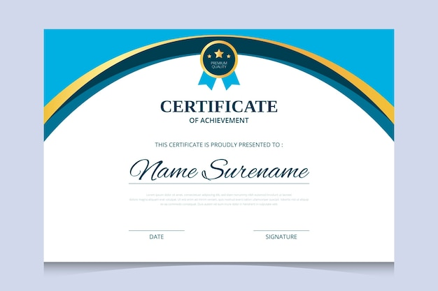 Abstract diploma certificate design template