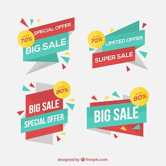 Abstract discount banners pack