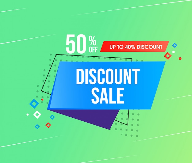 Abstract discount sale design template