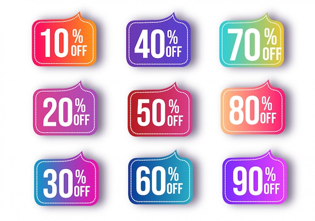 Abstract discount sale set