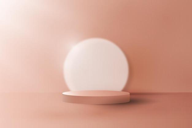 ぼやけた円の背景ベクトルと抽象的な表示表彰台