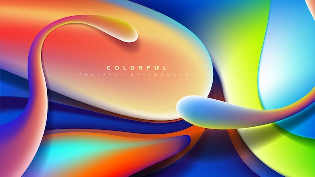 Abstract distorted shape background